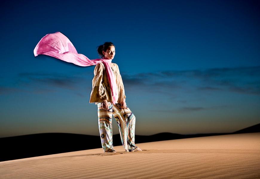 Portrait of Vi, Erg Chigaga, Sahara Desert, Morocco, Africa