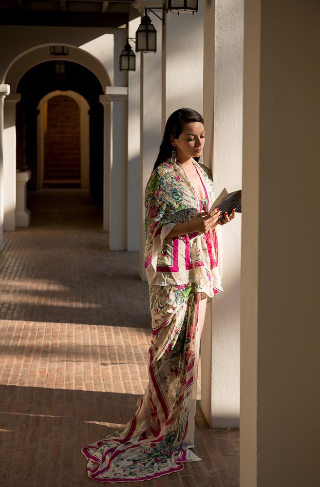 Woman reading, Satri House Hotel, Luang Prabang, Laos, Indochina, Asia