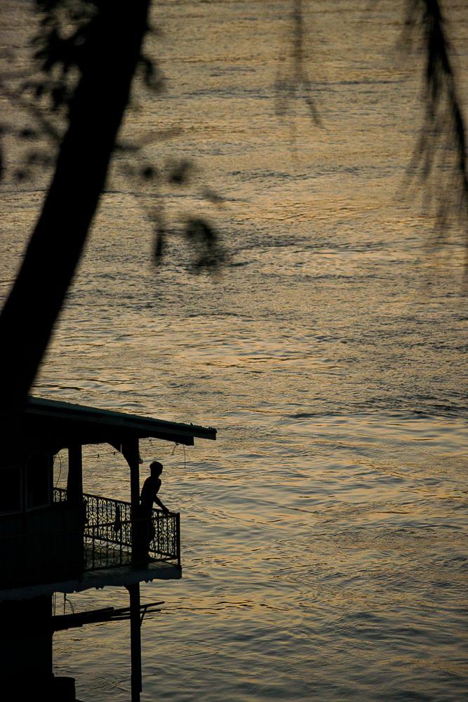 Dusk over Mekong River, Luang Prabang, Laos, Indochina, Asia