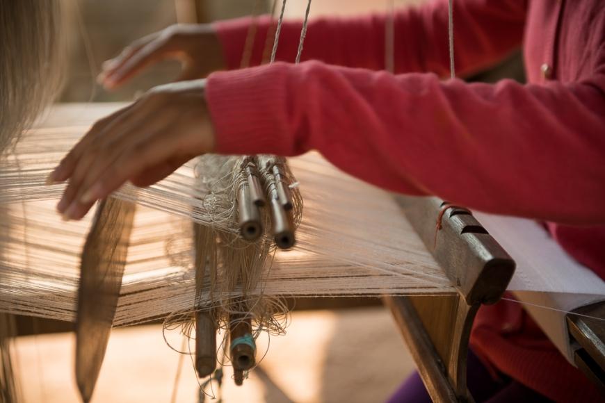 Weaving Village of Ban Phanom, Luang Prabang, Laos, Indochina, Asia