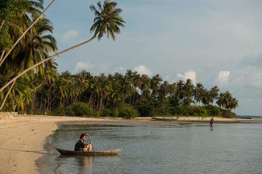 Moored Boat, Thong Krut Beach, Ko Samui Island, Surat Thani, Thailand