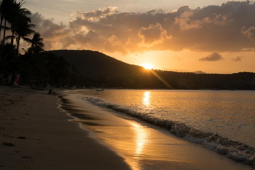 Dusk on Bangrak Beach ('Big Buddha Beach'), Bophut, Ko Samui Island, Surat Thani, Thailand