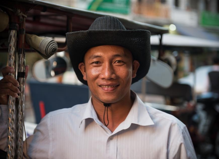 Portrait of Remork-moto Driver, Phnom Penh, Cambodia