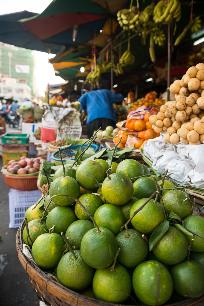 Fruit in Food market, Phnom Penh, Cambodia