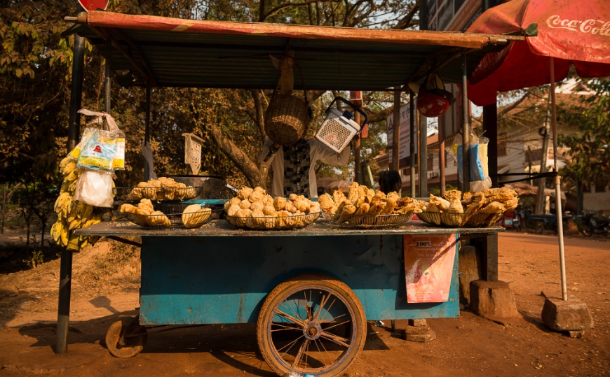 Food stall on road to Angkor, Siem Reap, Cambodia