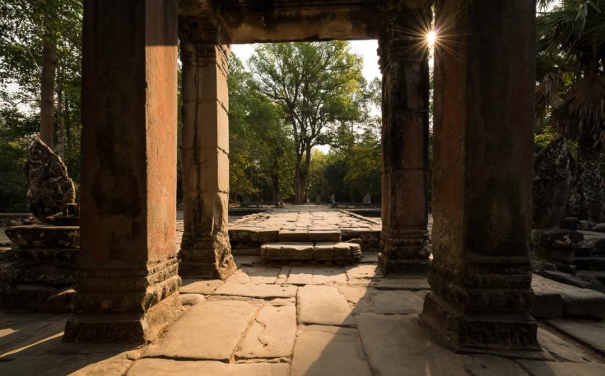 Eastern Terrace, Temple of Banteay Kdei, Angkor, Siem Reap, Cambodia