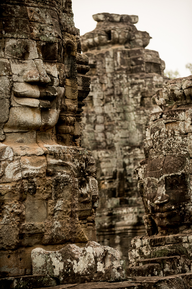 Faces of Avalokiteshvara, Bayon Temple, Angkor, Siem Reap, Cambodia