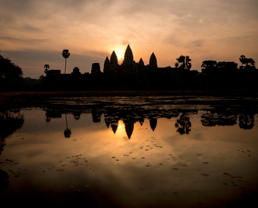 Sunrise over Angkor Wat, Siem Reap, Cambodia