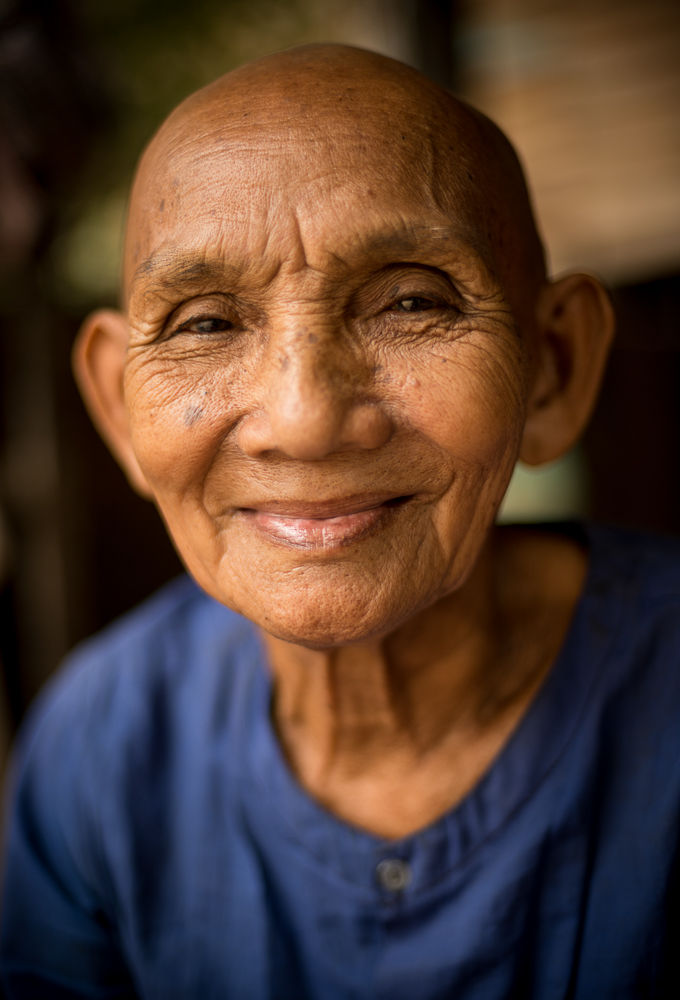 Portrait of Kim Ly, Monastery, Lolei Temple, Roluos, Siem Reap, Cambodia, Indochina, Asia