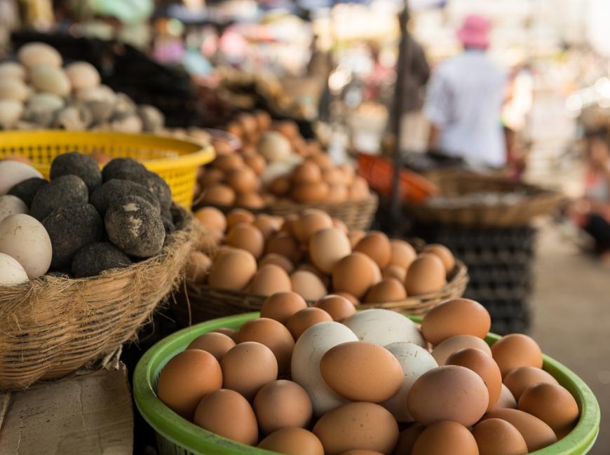 Market, Battambang, Battambang Province, Cambodia, Indochina, Asia