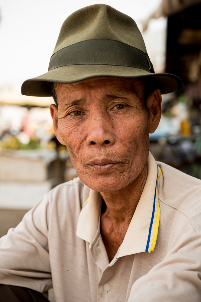 Portrait of Man, Battambang, Battambang Province, Cambodia, Indochina, Asia