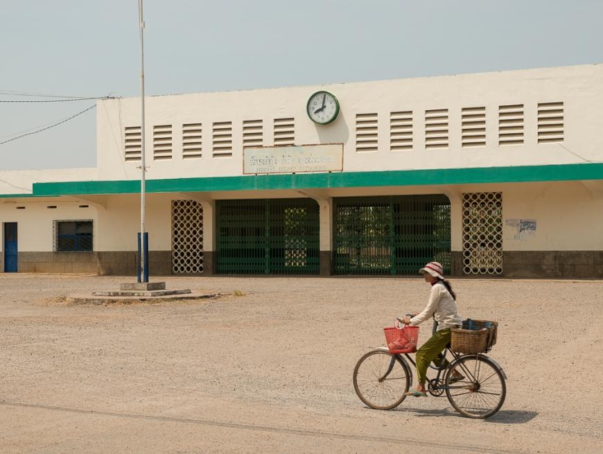 Abandoned Railway Station, Battambang, Battambang Province, Cambodia, Indochina, Asia