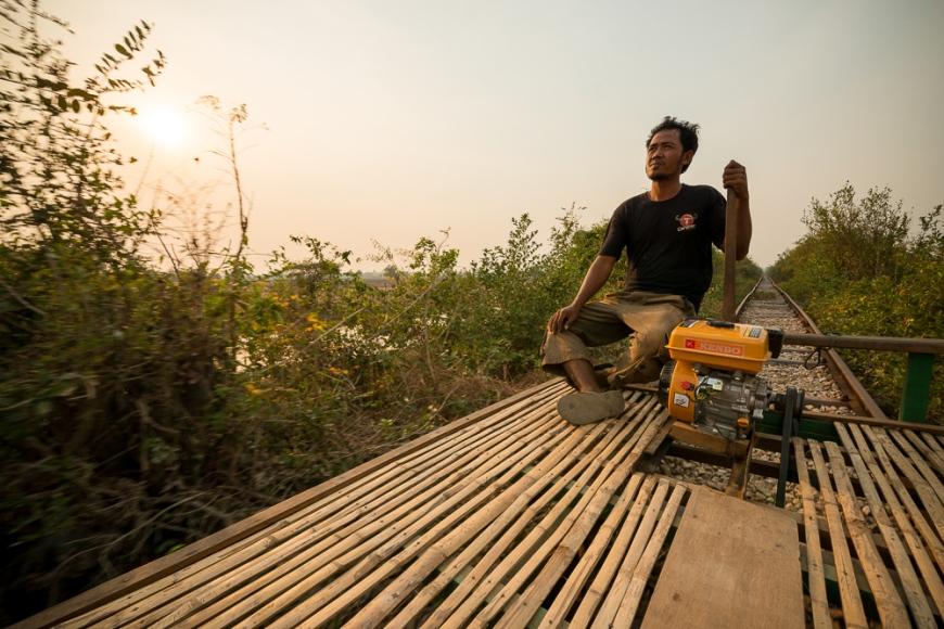 Bamboo Train Ride, Battambang, Battambang Province, Cambodia, Indochina, Asia