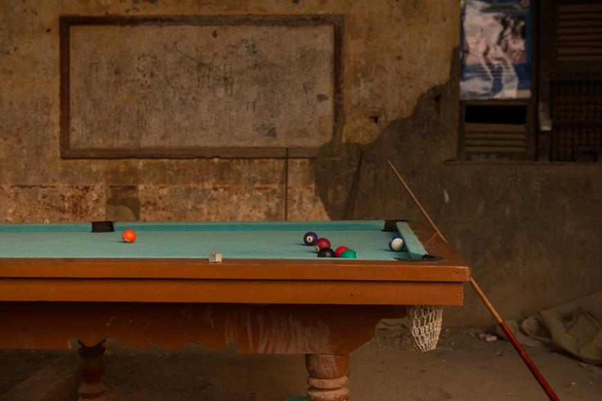 Pool Table, Battambang, Battambang Province, Cambodia, Indochina, Asia