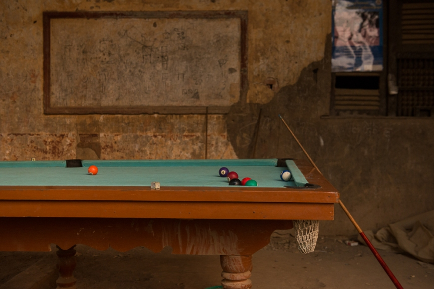Pool Table, Battambang, Battambang Province, Cambodia, Indochina, Asia