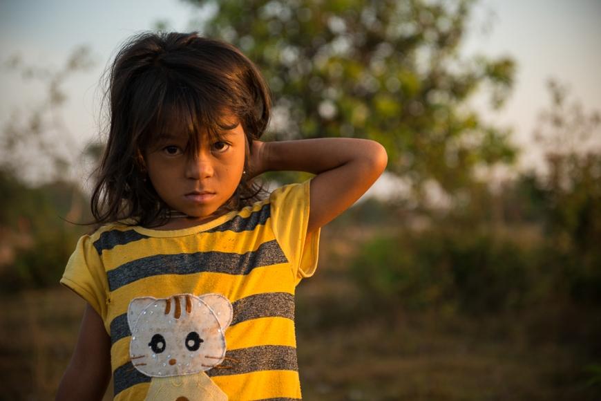 Portrait of Child, Fields near Kampot, Cambodia, Indochina, Asia