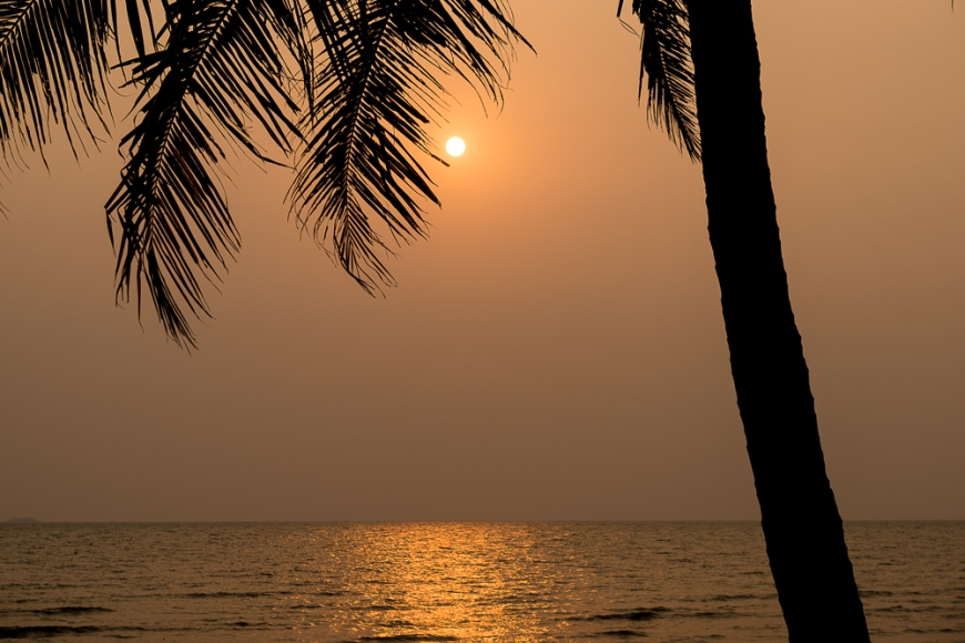 Sunset at Sailing Club, Kep, Cambodia, Indochina, Asia