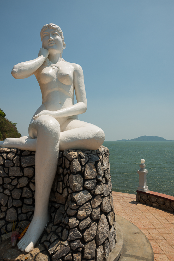 Statue of Woman, Kep, Kep Province, Cambodia, Indochina, Asia
