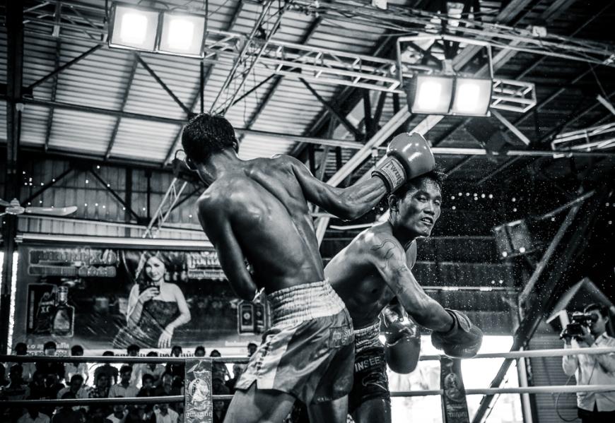 'Pradal Serey' Cambodian Kickboxing, CTN Studio, Phnom Penh, Cambodia, Indochina, Asia