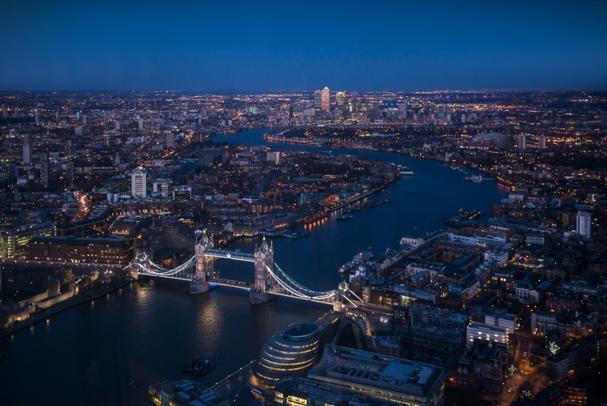 The View from The Shard, London, England