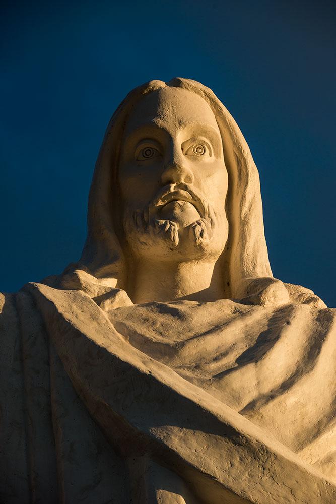 Statue of Christo Blanco, Saqsaywamán, Cusco, Peru