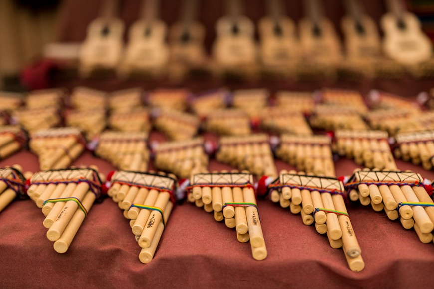 Panpipes, Pisac Textiles Market, Sacred Valley, Peru