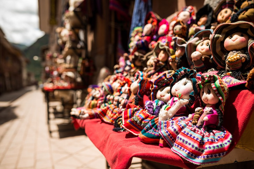 Toys for sale, Pisac Textiles Market, Sacred Valley, Peru