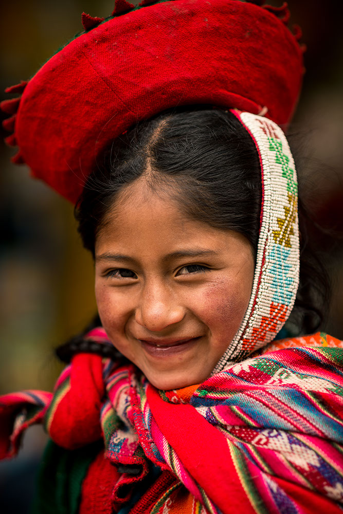 Portrait of Josephina in traditional dress, Ollantaytambo, Sacred Valley, Peru