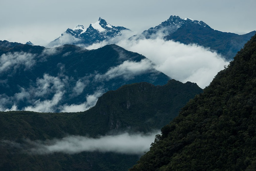View of Mountains southwest of Machu Picchu, The Sacred Valley, Peru
