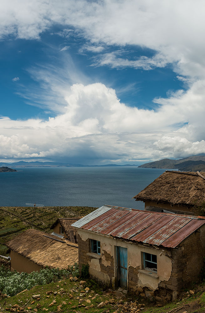 Old farmhouse, East side of Isla del Sol, Lake Titicaca, Bolivia