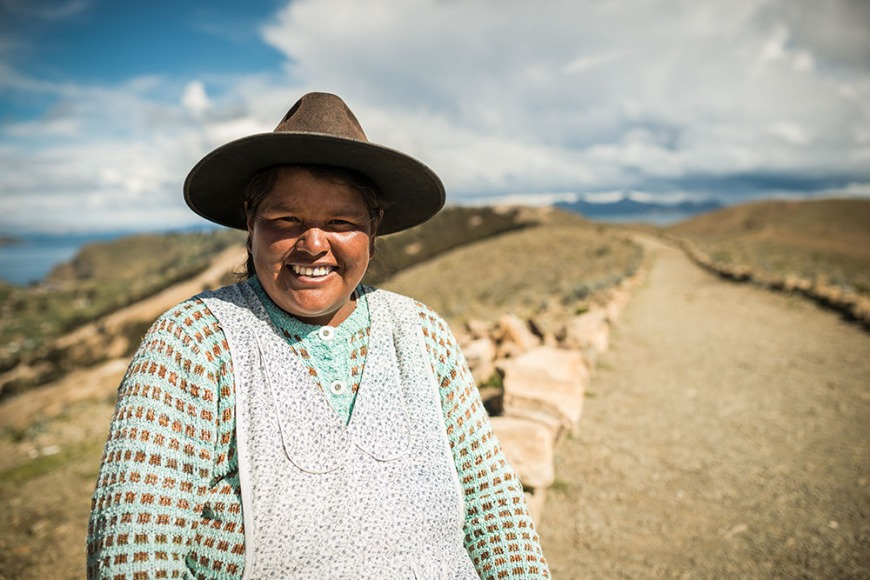 Portrait of Alicia by Inca Trail, Isla del Sol, Lake Titicaca, Bolivia
