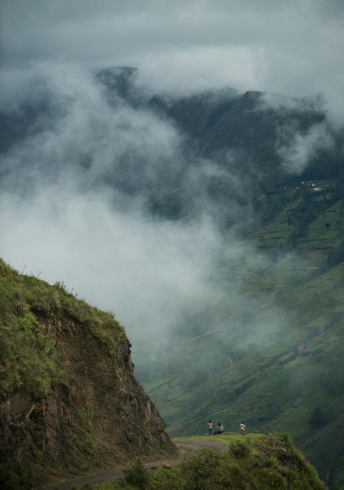 View through valley, Sorata, Cordillera Real, Bolivia