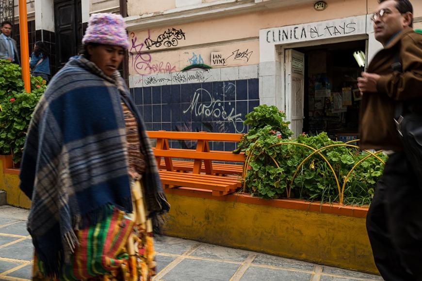 Street scene in central La Paz, Bolivia