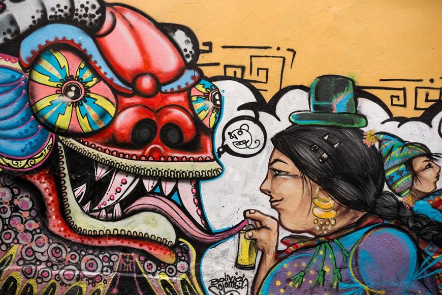 Graffiti on wall, La Paz, Bolivia