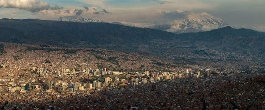 View of La Paz from El Alto, La Paz, Bolivia