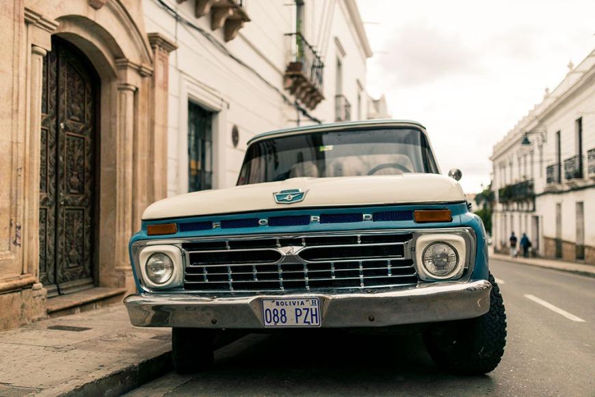Vintage Ford Car, Sucre, Bolivia