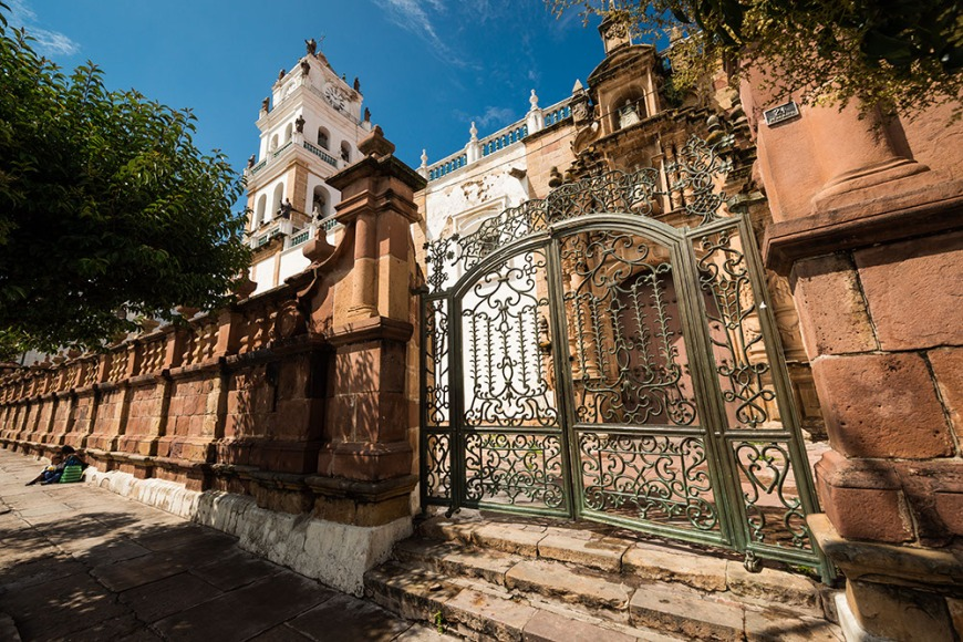 The Cathedral gates, Sucre, Bolivia