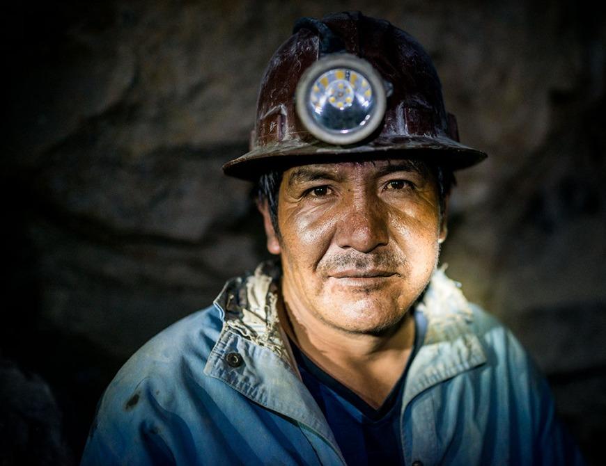 Portrait of Andaluz, The Mines of Cerro Rico, Potosi, Southern Altiplano, Bolivia