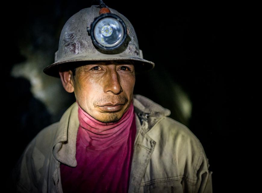 Portrait of Simon, The Mines of Cerro Rico, Potosi, Southern Altiplano, Bolivia
