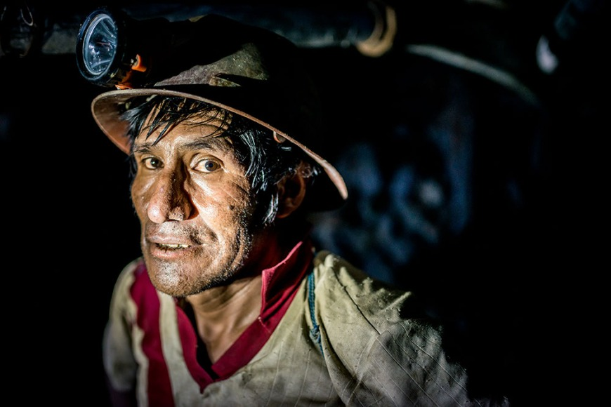 Portrait of Vicente, The Mines of Cerro Rico, Potosi, Southern Altiplano, Bolivia
