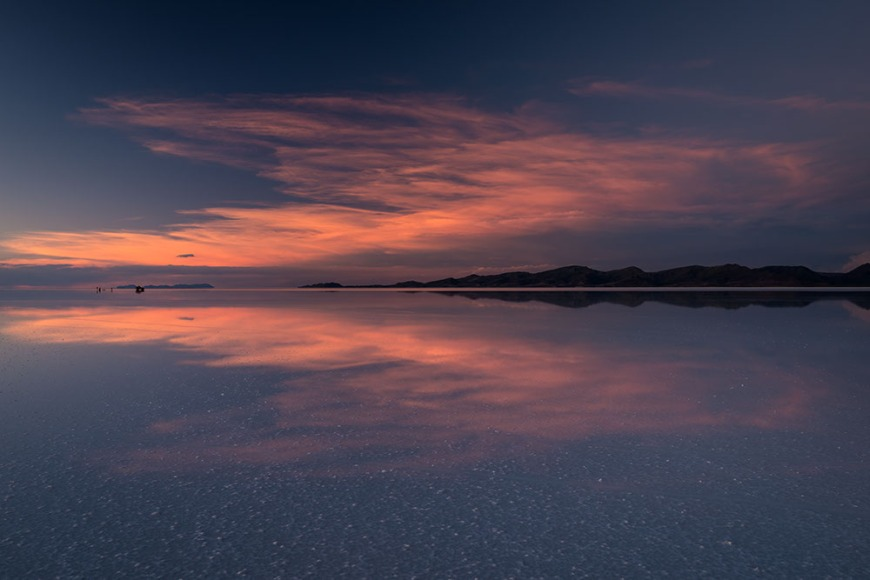 Sunset over the Salar de Uyuni, Southern Altiplano, Bolivia