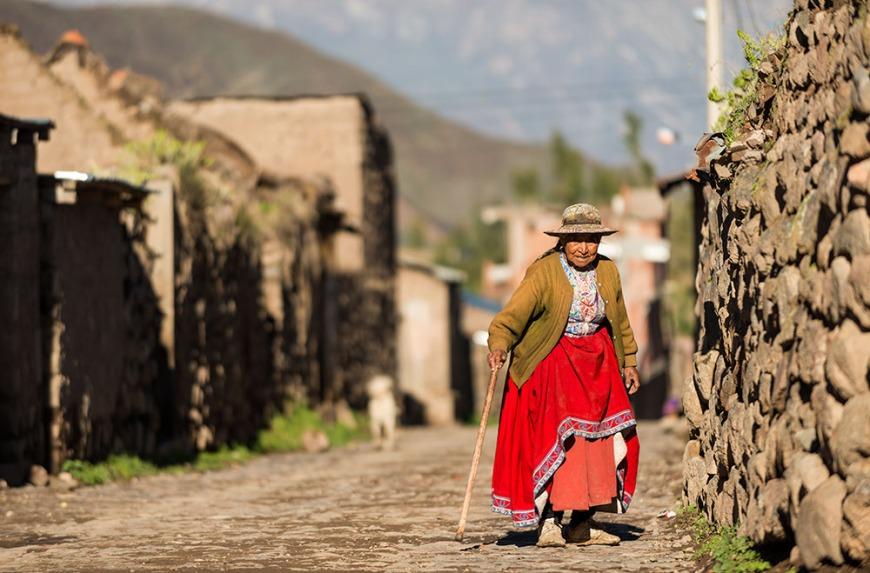 Street scene in Cabanaconde, Colca Canyon, Peru