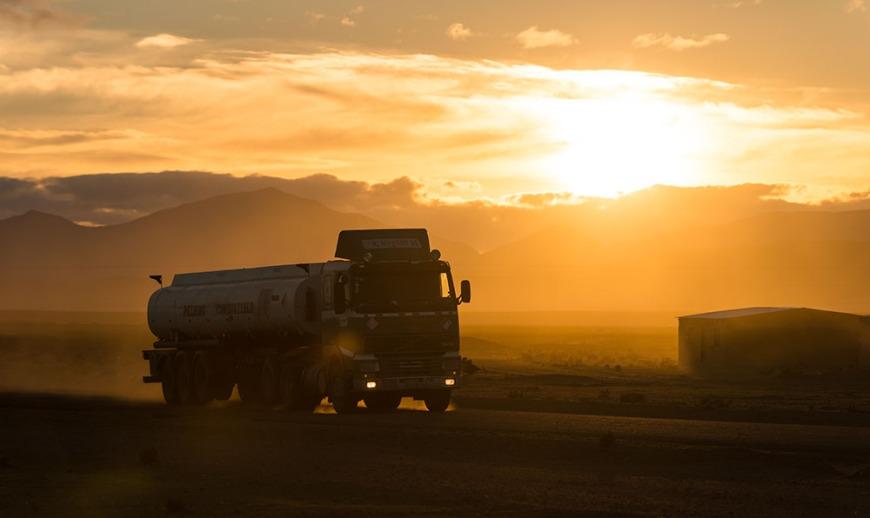 Sunrise near Villa Alota, Southern Altiplano, Bolivia
