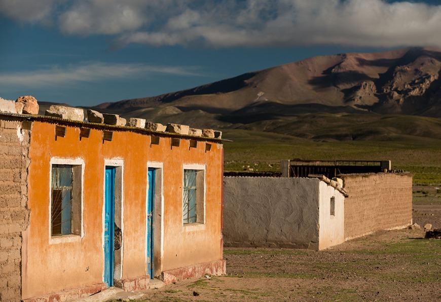 Buildings in Villa Alota, Southern Altiplano, Bolivia
