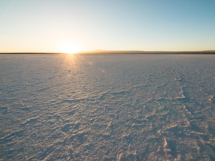 Sunset at The Laguna Salada, Salar de Atacama, El Norte Grande, Chile