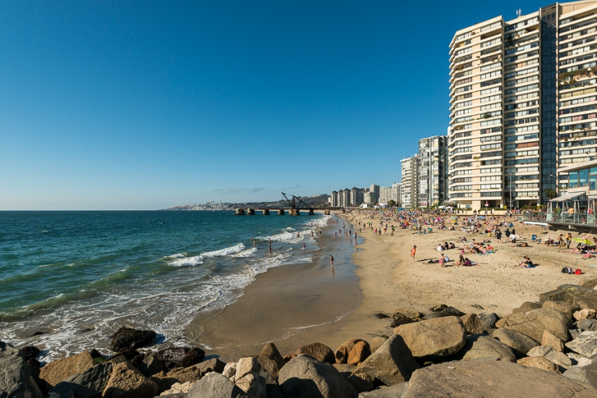 Playa Acapulco, Viña del Mar, Central Coast, Chile