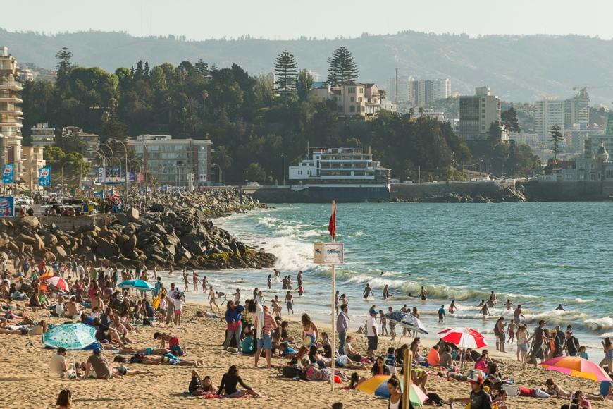 Playa Acapulco, Viña del Mar, Central Coast, Chile