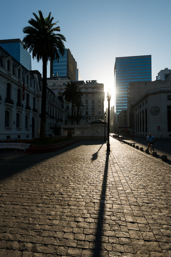 Sunrise near the Teatro Municipal (Municipal Theatre), Santiago, Chile