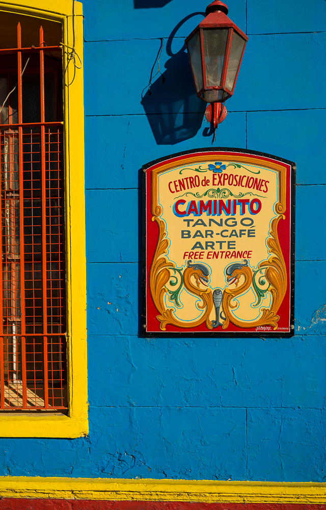 Restaurant Sign, El Caminito, La Boca, Buenos Aires, Argentina