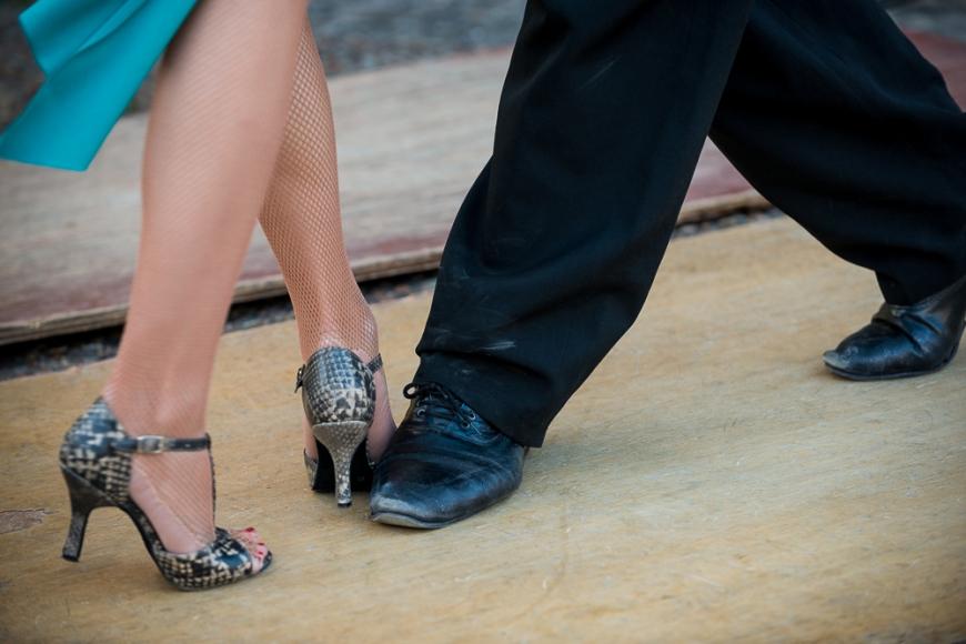 Tango Dancing, El Caminito, La Boca, Buenos Aires, Argentina